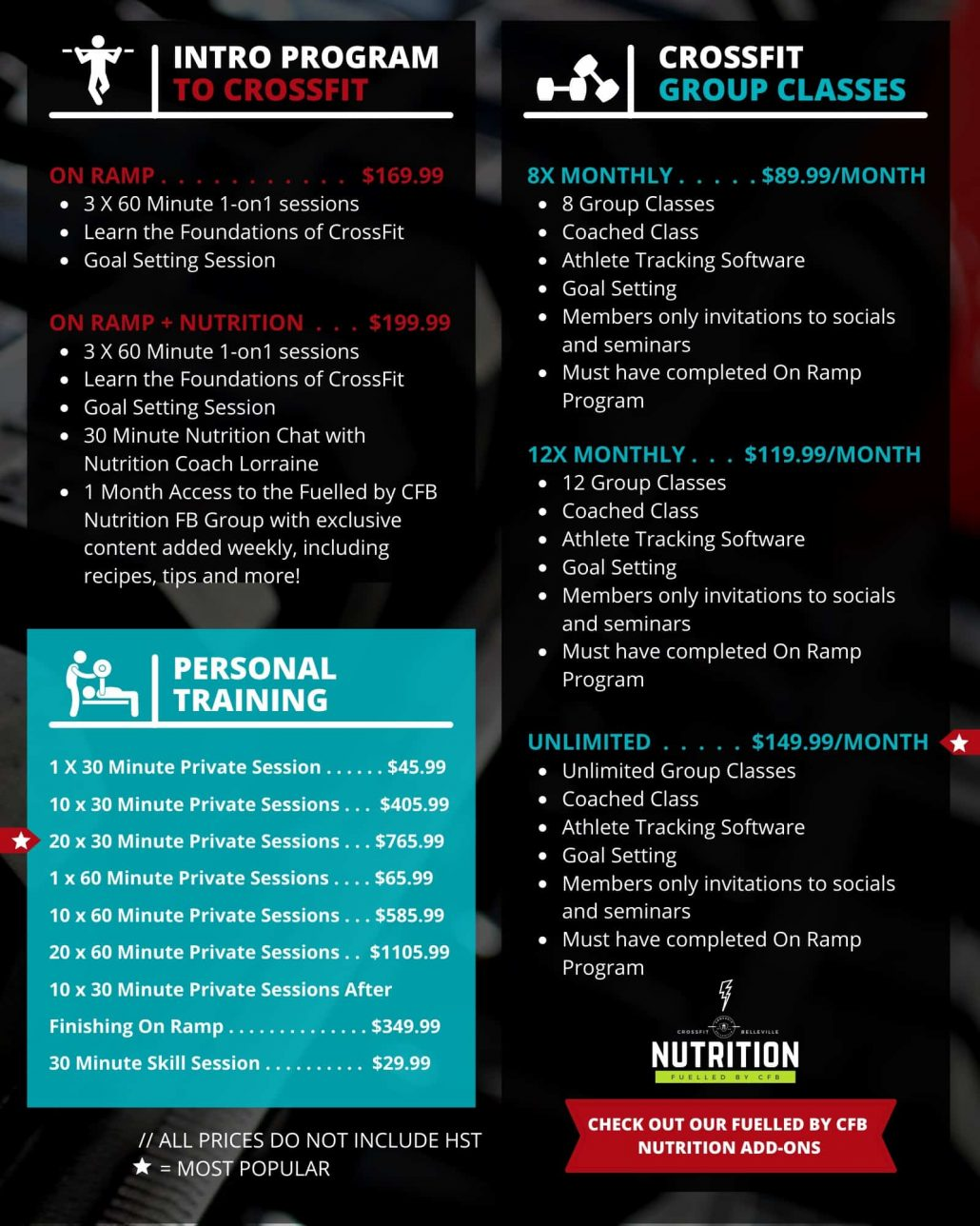 Pricing Crossfit Belleville